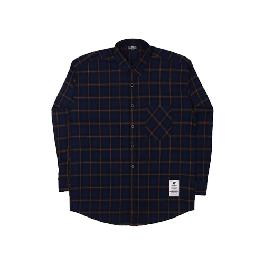 [FILLUMINATE] UNISEX Overfit Wide Check Shirt