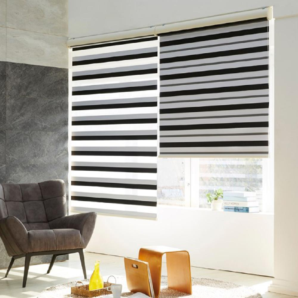 2 Colors combination blackout dual combi ( DARKNESS )
