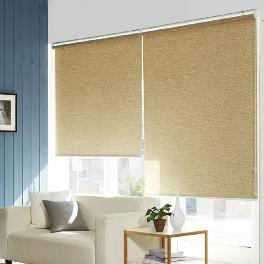 Wood looking roll blind with vertical stripe shape ( PICOWOODY SINGLE )