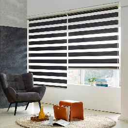 2 different color combinationed blackout dual combi blind ( BLACKOUT STRIPE )