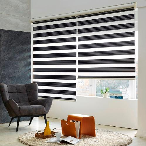 2 different color combinationed blackout dual combi blind ( BLACKOUT STRIPE ) | blind , blinds , shade , window , blackout , window blind , dual combi, zebra blind, zebra, day and night , home textile , interior, home decor