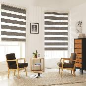Special designed blackout dual combi blind ( Shooting star 2tone )