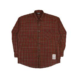 [FILLUMINATE]UNISEX Overfit Brick Check Shirt