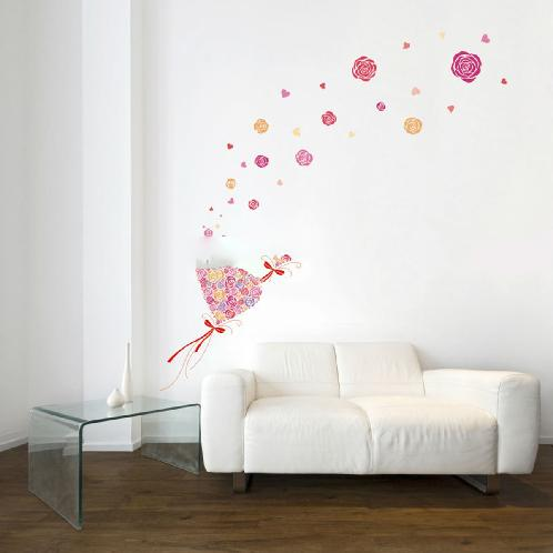 Home Decor Removable Wall Border Stickers KRL-20007 Rose | Home Decor Removable Wall Border Stickers KRL-20007 Rose