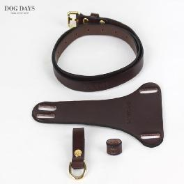 Premium leather harness T type (Brown)