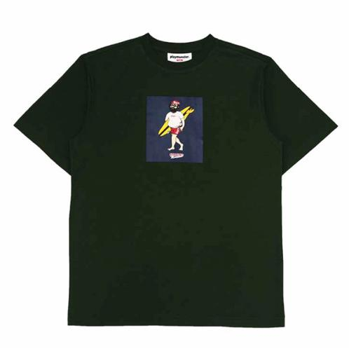 [play-monster]BOX-HOBO-DARKGREEN | T-shirt,fashion,comfortable