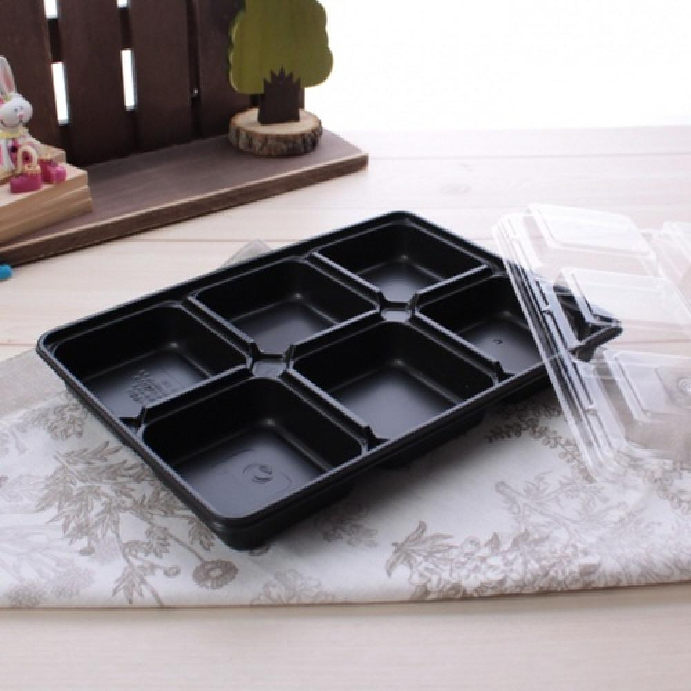 Eco-friendly PLA Disposable Food Container - 6 Compartment Lunch Box Set