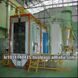 Powder coating equipment line system for plants