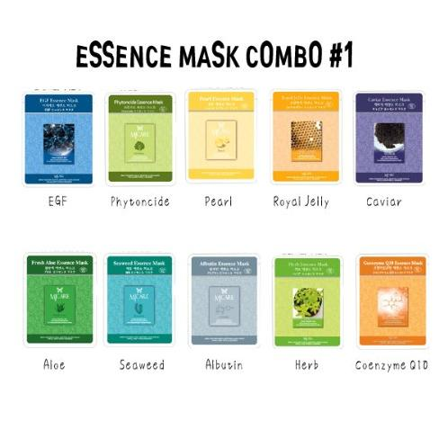 Essence Mask Combo No.1 - 10 Different Kind Of MJ Mask Sheets | mask