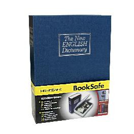 Dictionary Diversion Book Safe Money Box Home Security with Key Lock - Extra Large Size (Blue)