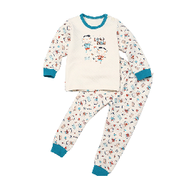 Kids quilted thermal pajamas-organic cotton