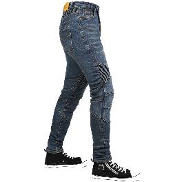 BBJ JEDI M Rider Blue Jean Unique Design Skinny Denim Hip / Knee Pad Fashion New