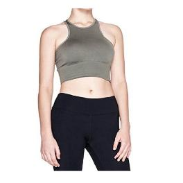 ATHLUNA Women's Seamless Workout Sports Bra Top Free Size (S/M) # Khaki