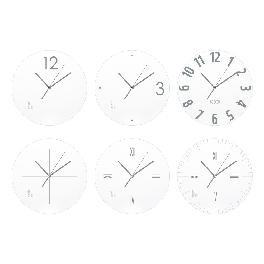 Wall Clock Silver White Line 6Types Home OffIce Decor Interior Simple Design New