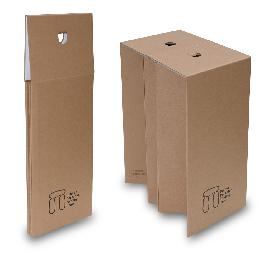 Portable Folding Cardboard Chair, Stool, Corrugated Cardboard, Paper Chair