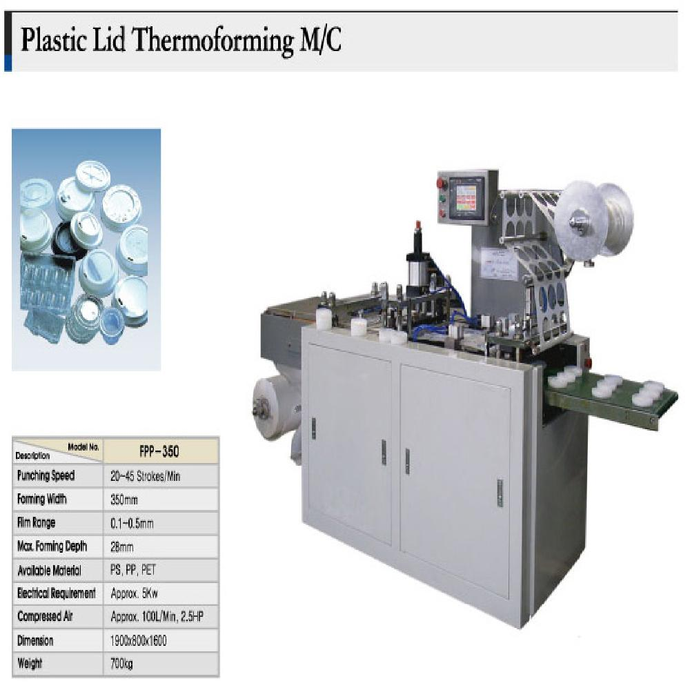 PS lid thermoforming machine