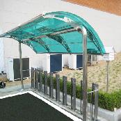 Canopy for bicycle racks