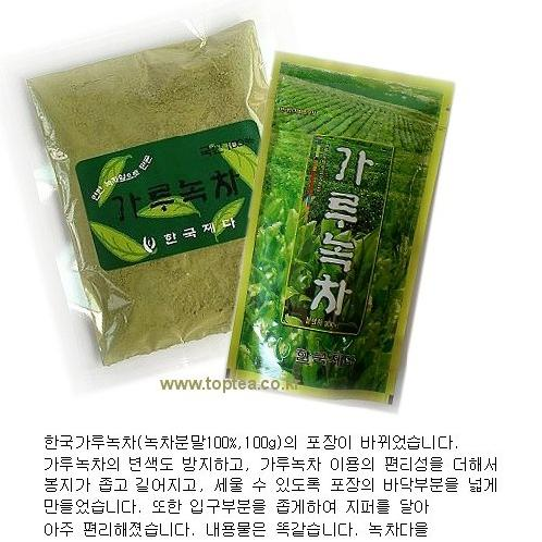 Hanguk Powder Green Tea, Daejak 100g | Green Team ,Tea bag, Leaves Tea,Chrysanthemum Tea, Flower Tea, Maesil Tea, Traditional Tea