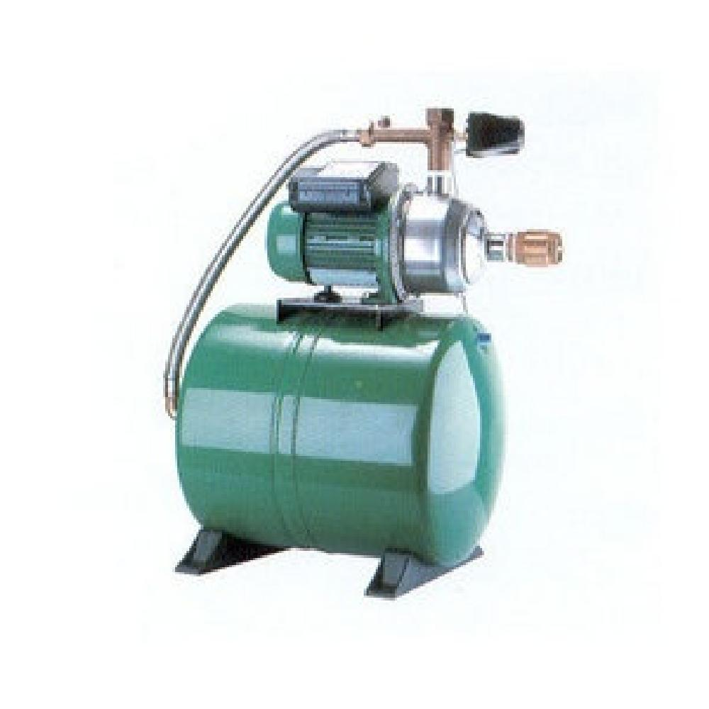 Pump with small inverter and booster