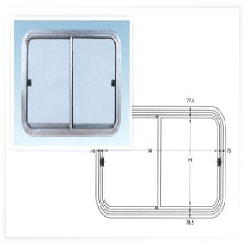 HORIZONTALLY SLIDING WINDOWS (TYPE HST) | LADDER, WINCH, MOTOR, DECK, OUTFITTINGS, ACCOMMODATION