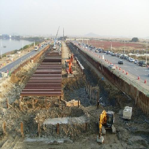 The Construction for Expanding Songdo Coast Road / Underground Driveway Construction | Construction and maintenance support equipment