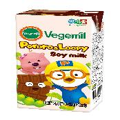 [Dr.Chung9s Food] Vegemil Pororo and Loopy Chocolate Soymilk 190ml (6.4 fl oz.) Pack of 16