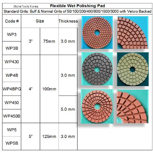 Wet Polishing Pad | diamond tool, abrasive, stone tool, wet polishing pad, dry polishing pad, wet pad, dry pad, Flexible Polishing Pad, Concrete Polishing Pad, Engineered Stone Polishing Pad, Metal Polishing Pad, Concrete Polishing, Stone Tool, Stone Fabrication, Stone