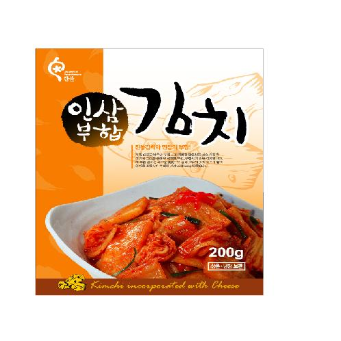 Kimchi incorporated with hongsam(ginseng), chicken, cheese  | Prepared side dishes