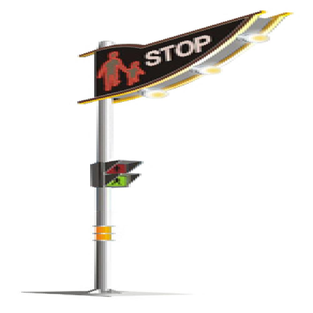 Safety Lights for Pedestrian Crossing