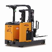 ELECTRIC REACH-TYPE FORKLIFT TRUCK