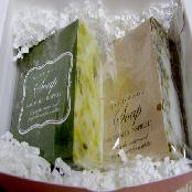 Natural tourmaline soap