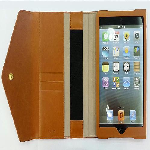 Leather case for iPad Mini with stand | Leather iPad Mini Case, Natural Leather, Metal, leather, iPad Mini