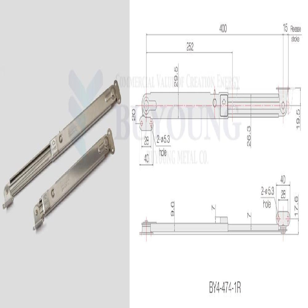 Stainless Steel Door Stay BY4-474-1