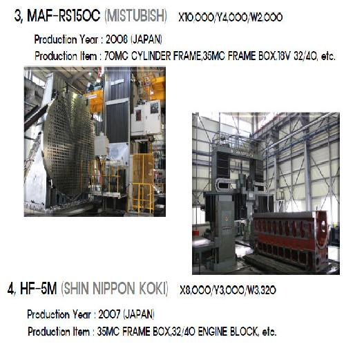 MAF-RS150C (MISTUBISH) X10,000/Y4,000/W2,000 | engine, machine tools, bed plate, Industry