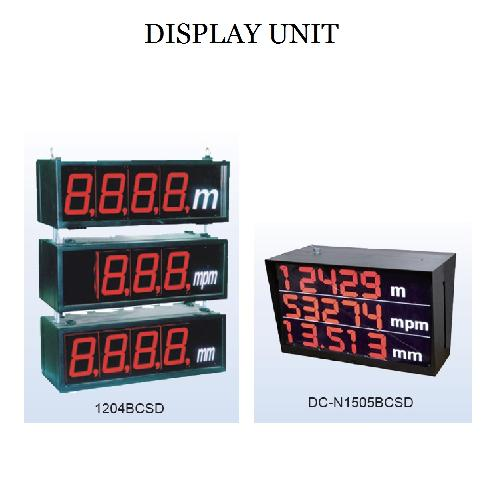 DISPLAY UNIT | DISPLAY UNIT,FND,COUNT,SPEED,RPM,DIAMETER,TEMPERATURE,LED