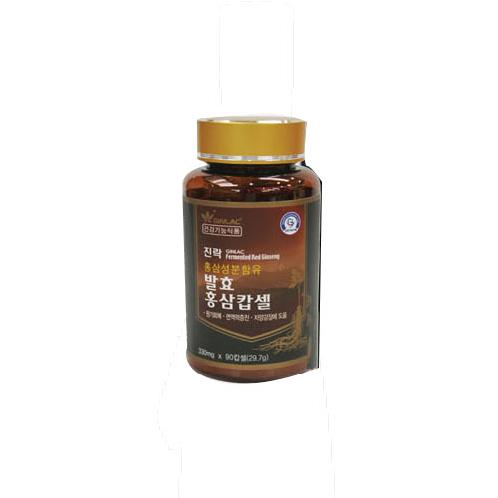 Ginlac Fermented Red Ginseng Capsule F-Hard | Ginlac, Fermented, Korean Red Ginseng, extract, lactic, acid, bacterium