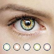 OPPA X10 3Tone Color Contact Lenses Prescription 1 Pair New Lentilles 1 Paire