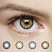 OPPA X4 2Tone Color Contact Lenses Prescription 1 Pair New Lentilles 1 Paire