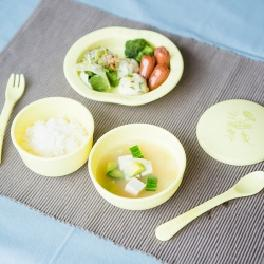 Vegetable Baby Tableware Set 6pcs made from cornstarch