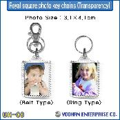 UH-06 Royal Square Photo Key Chain