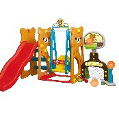 Bear sports slide with swing