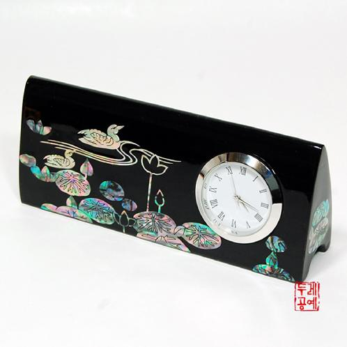 Mother-of-Pearl Desk Clock and Business Card Holder | mother of pearl craft,Businesscard holder, desk clock