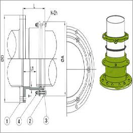 Sliding Expansion Joint-LUG Flange Adapter Type Coupling
