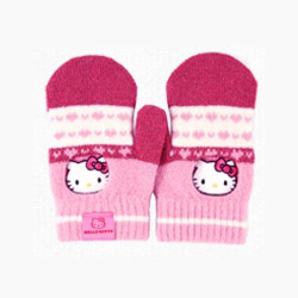 iGloves Touch Lambs Wool Smartphone Gloves by VASTAN INC._Hello Kitty Girls' Mittens pink heart