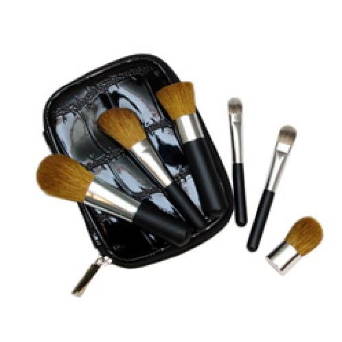 Mineral Essential Zip Brush Set | mineral essential zip brush set, cosmetic brush set, make up brush set, silstar