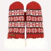 [iGloves]Smartphone Touch Gloves_red mittens
