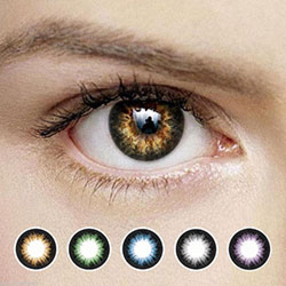 OPPA OS9 2Tone Color Contact Lenses Prescription 1 Pair New Lentilles 1 Paire