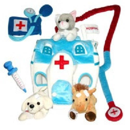 Animal Hospital | child dall, Animal Hospital, birthday party, sweet cake, Hand Puppet, Elephant, Doll, Kids