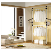 Two-level clothes rack