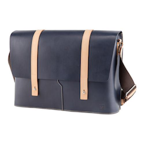 Truhaven Full-grain Leather Messenger Bag Navy | leatherbag, leather, messengerbag,